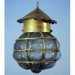 Pirate lampa - Blåst glas