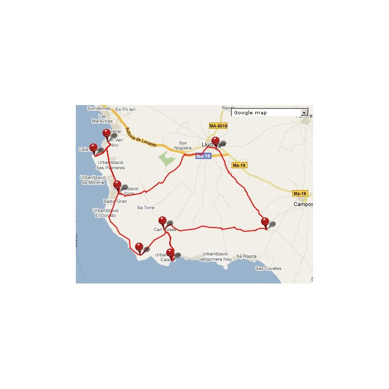 Free download - GPS / GPX Route Llucmajor - Mallorca Cycling