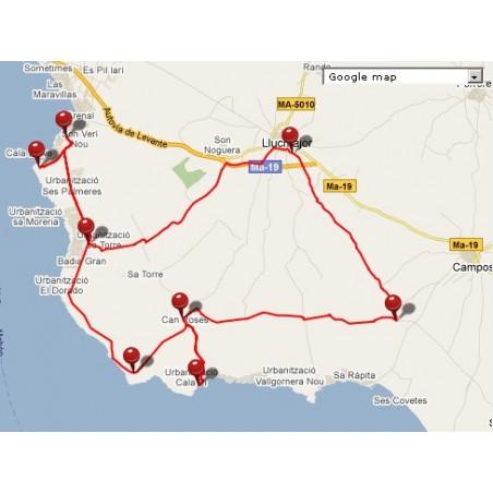 kostenloser Download: Route GPS / GPX Llucmajor - Mallorca Radfahren