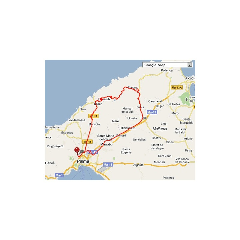 Scaricare gratis: GPS Route / GPX Llucmajor - Ciclismo a Maiorca
