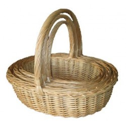 Gift basket, Christmas basket. wicker