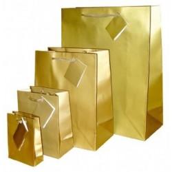 Bolsa de papel, asa cordón Luxe Oro