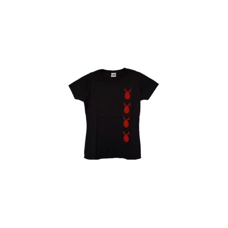 T-shirt nera diavoli