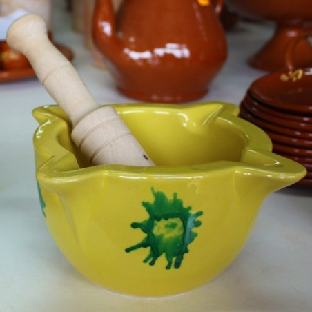 Majorcan mortar and wooden pestle