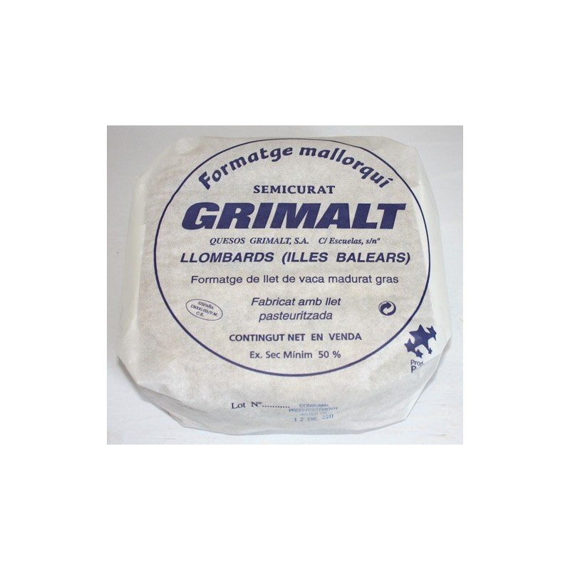 Formatge mallorquí Semicurat - Grimalt