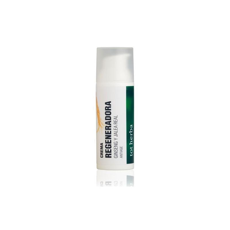 crema facial, regeneradora de Ginseng y Jalea Real, hidratante de albaricoque, hojas de olivo