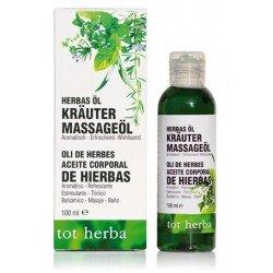 Ringelblumenöl, Mandelöl, Lavendel, Eukalyptus, Rosmarin, Melisse, Kamille, Kräuter massageöl
