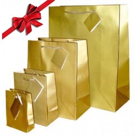 Papierbeutel, gold